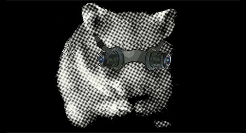 Очки ночного видения для мышей и хомяков— ещё одна придумка Джеймса и Джимми (иллюстрация Auger–Loizeau).
