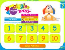Несложное меню игры осилит даже родитель (иллюстрация с сайта giggles.net).