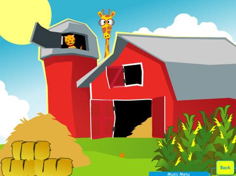 Кошка на ферме – в порядке вещей, но поскольку ферма – детская, то почему бы не поселить тут и жирафа? (иллюстрация с сайта giggles.net).