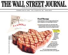 Обложка одного из выпусков Wall Street Journal. Источал ли этот выпуск вкусный запах или его можно было смело съесть – нам не известно (иллюстрация с сайта americangrassfedbeef.com).