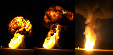 Март 2005 года. Такое способны произвести 3 огнемёта. В день акции их будет 6 (фото с сайта simnuke.org).