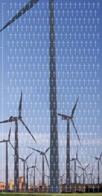 Таким полем обычных ветряков разработчики Maglev Turbine иллюстрируют теоретическую мощность своего колосса (иллюстрация Maglev Wind Turbine Technologies).