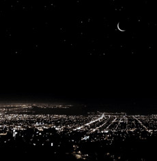 А так этот же самый район выглядит при полном уличном освещении (иллюстрация Civil Twilight).