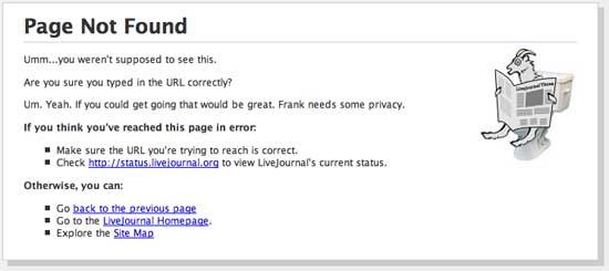 404 ошибка на LiveJournal